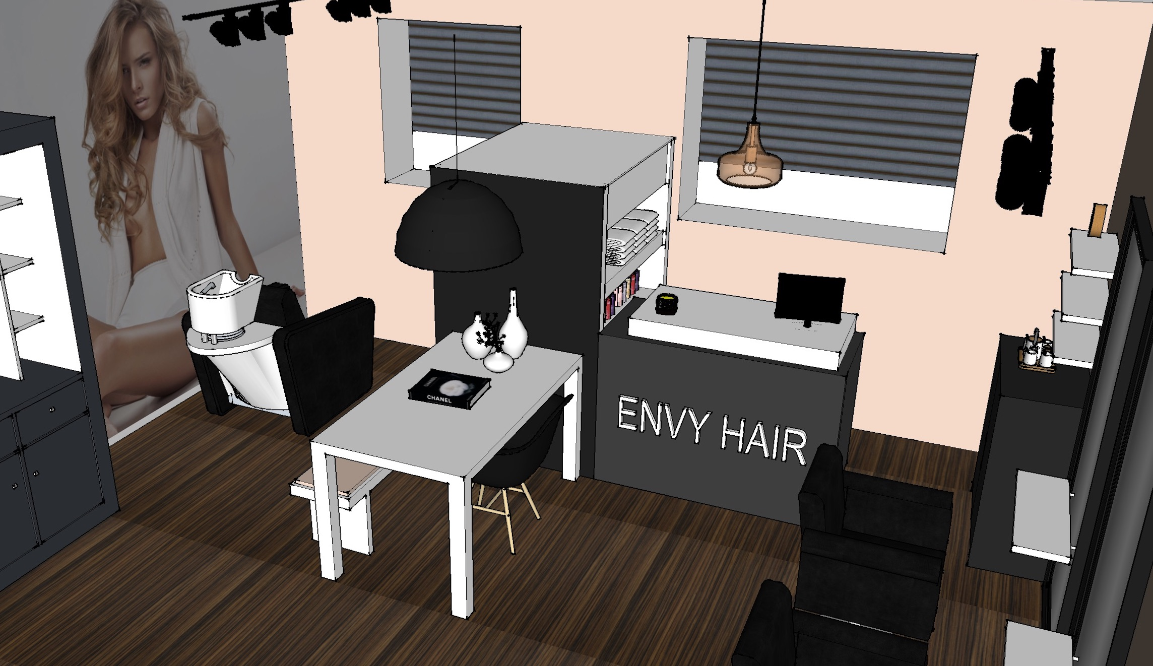 Hairextensionssalon interieurontwerp - Utrecht